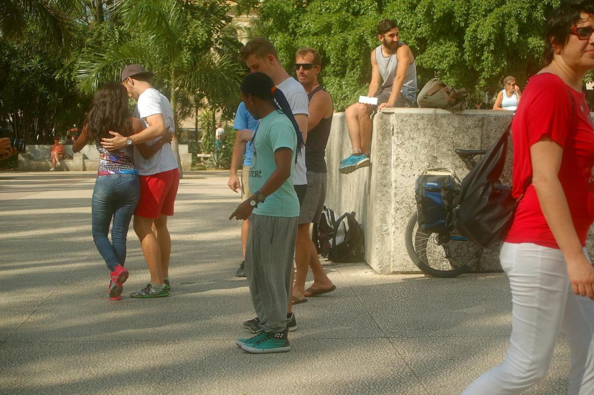 1er cours de danse sur la parque central