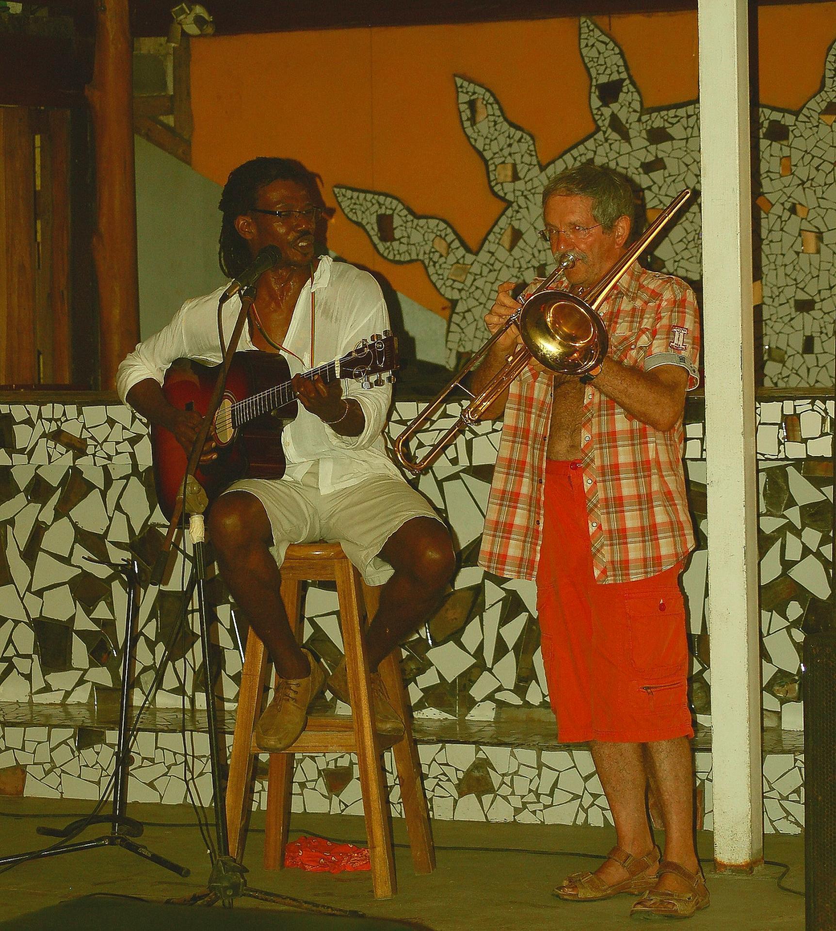 Trombone et guitare